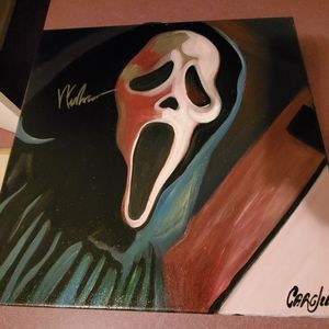 Wes Craven Autographed Scream Cargill Painting